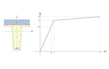 IDEA StatiCa Concrete - Response with graph
