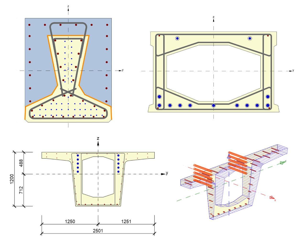 IDEA StatiCa Concrete - bridge complex cross sections