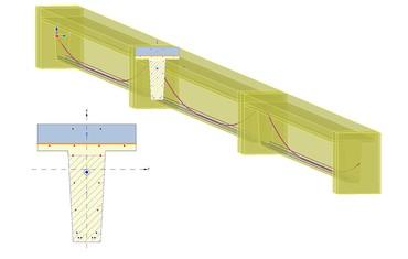 IDEA StatiCa Concrete - composite bridge