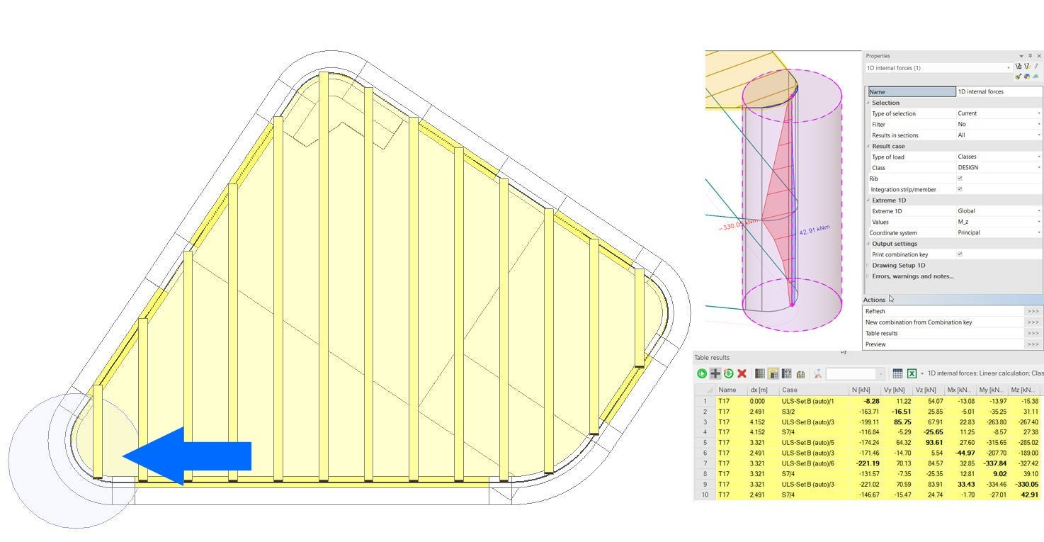 IDEA StatiCa - Curved shear wall design