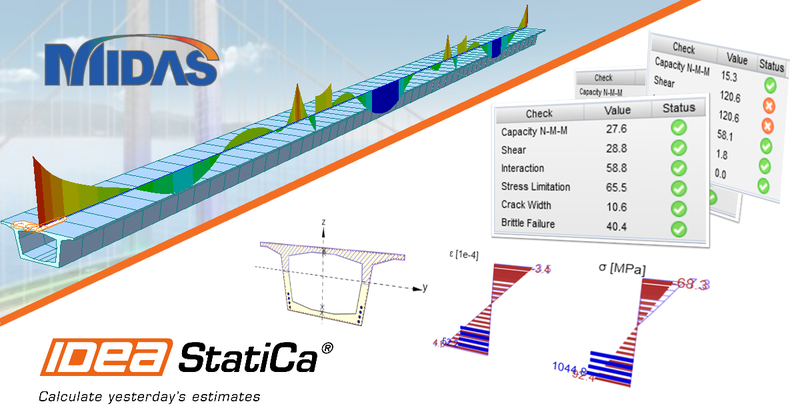 IDEA StatiCa - BIM link midas Civil-Gen to IDEA Statica