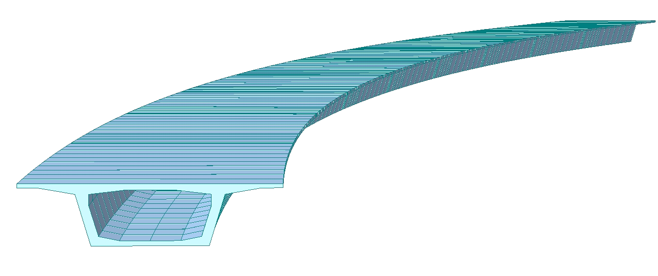 IDEA StatiCa - midas Civil - curved bridge