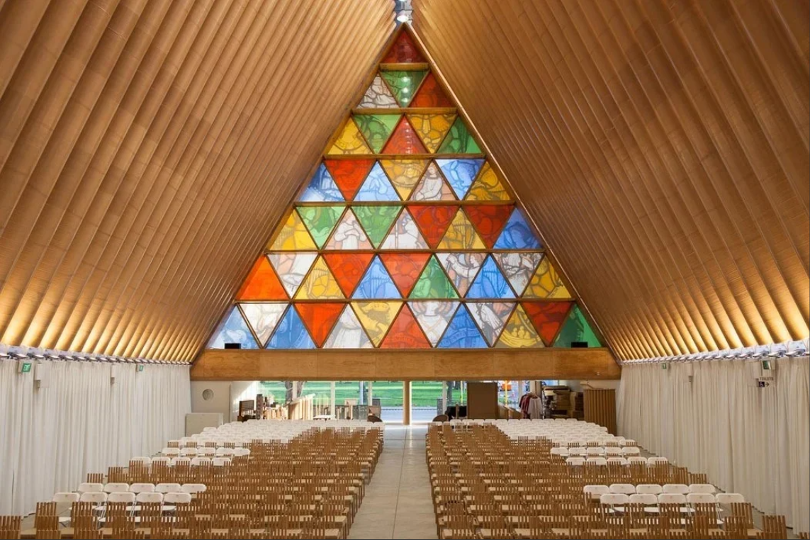 IDEA StatiCa - Cardboard Cathedral - Shigaru Ban in Christchurch, New Zealand