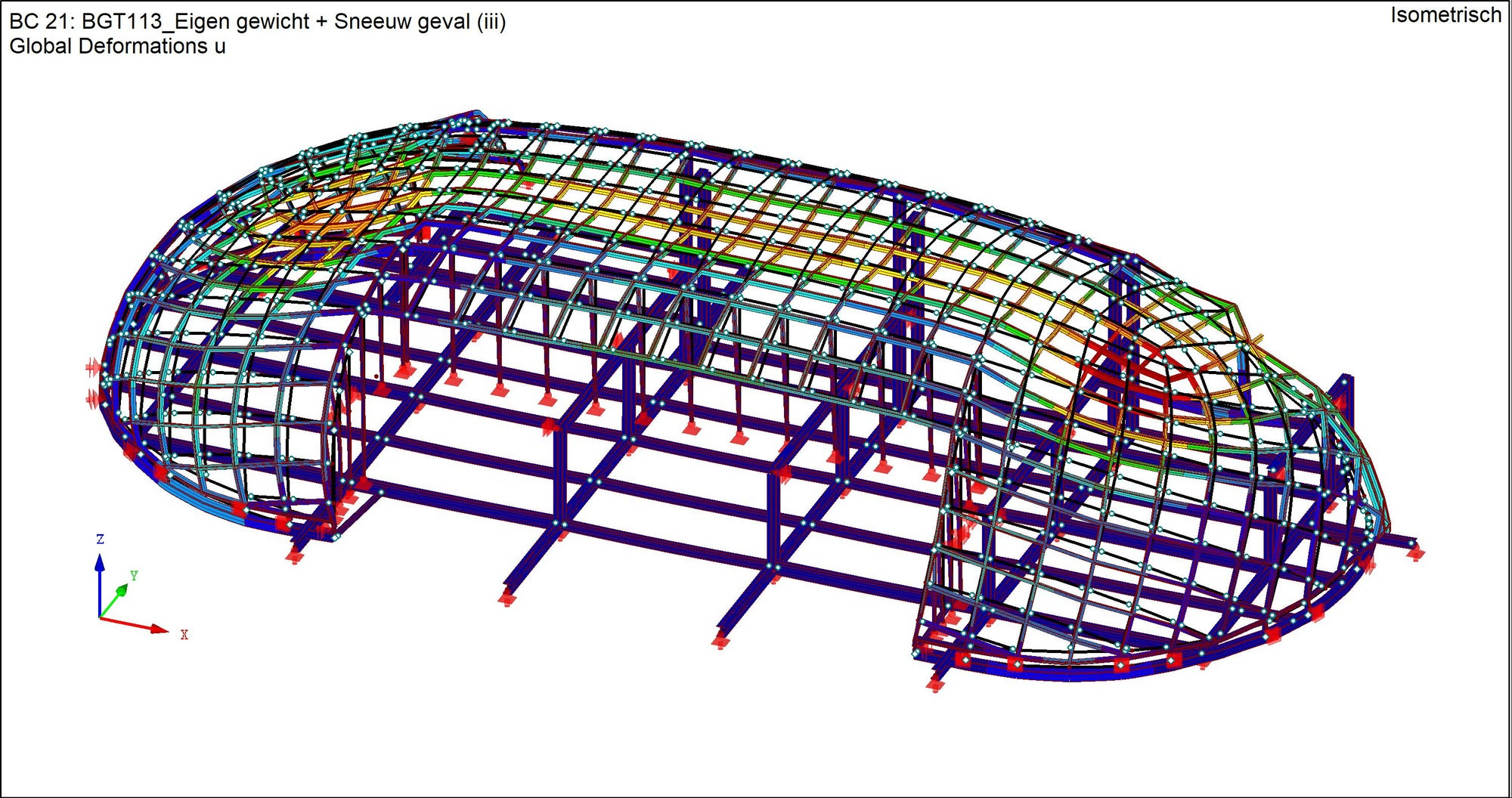 IDEA Open Model - Capital C - RFEM model Deformation