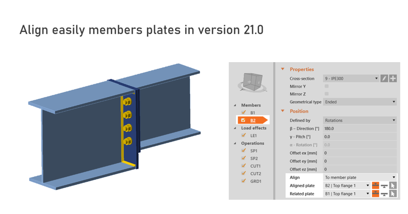 IDEA StatiCa UK - Alignment of members plates will make your work easier