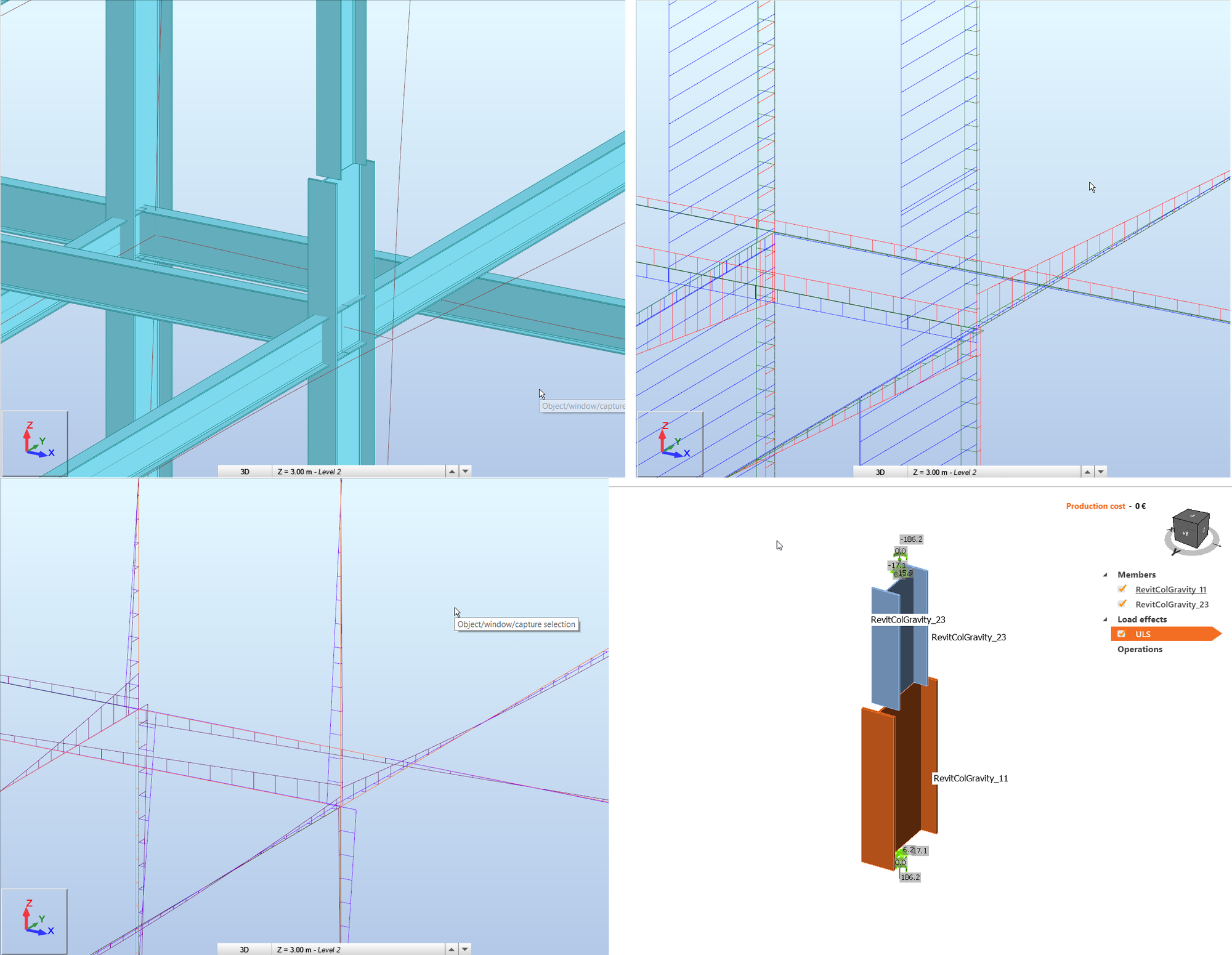 IDEA StatiCa - Forces in splice joints