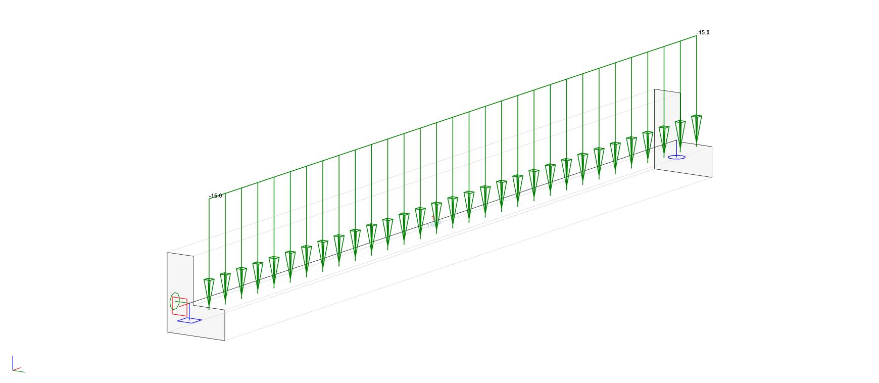 IDEA StatiCa UK - Ledge of a L-shaped beam subjected to line loads