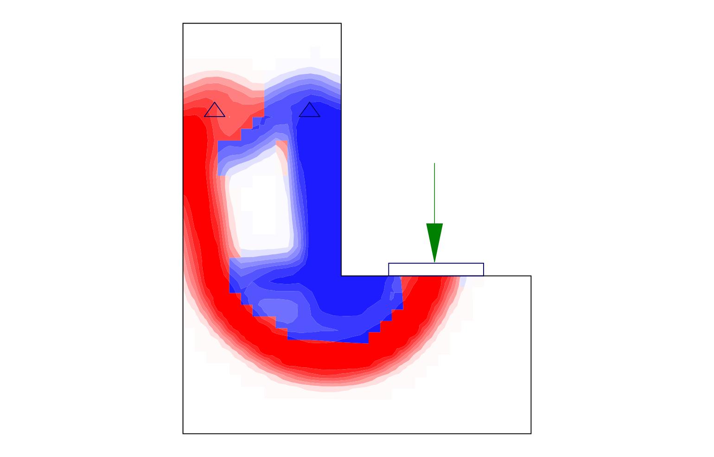 IDEA StatiCa UK - Topology optimization of a ledge L-shaped beam
